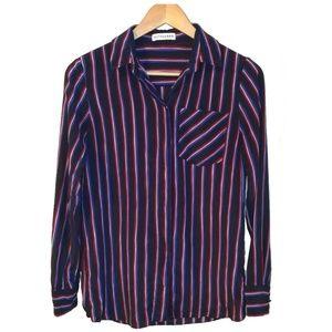 ALTUZARRA Classic Stripped Silk Blouse, size 6